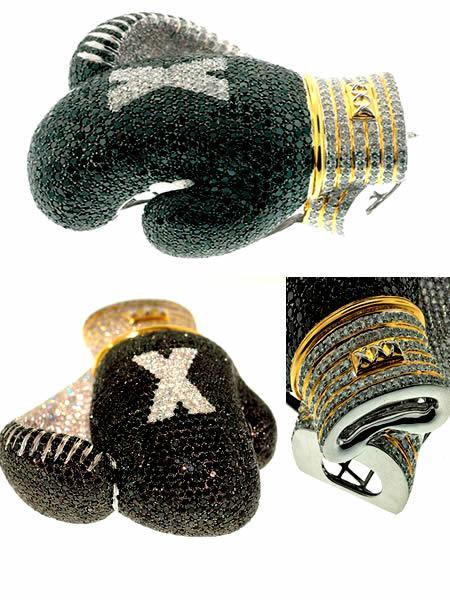Бриллиантовые боксерские перчатки