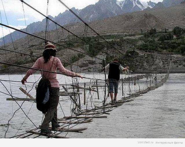 опасный мост Хуссаини