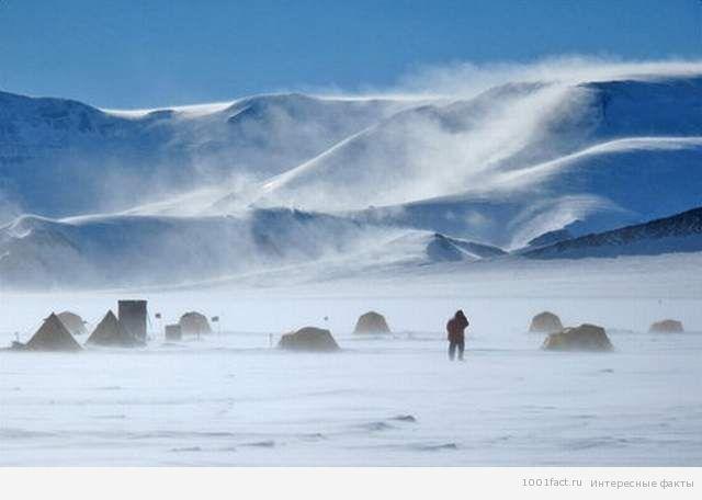 ветер в Антарктиде