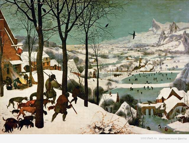 """картина """"Охотники на снегу"""""""