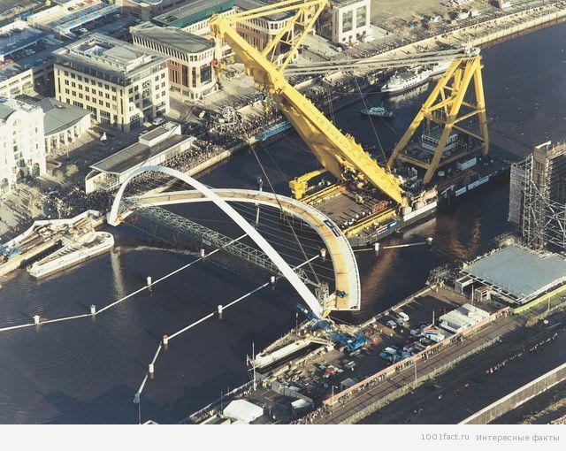 строительство моста Миллениум