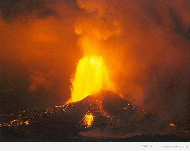 извержение вулкана Михара