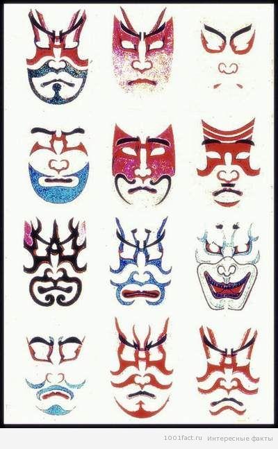 грим актеров театра кабуки
