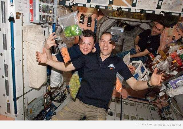 о еде для космонавтов