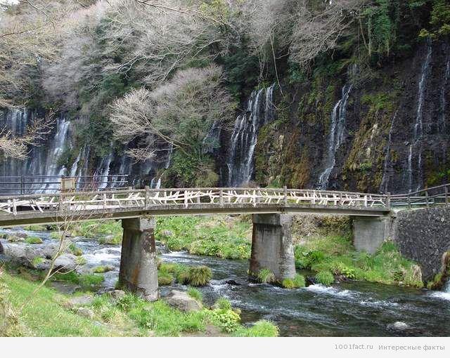 мост у водопада Шираито