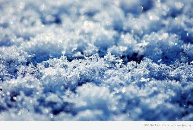 разные снежинки
