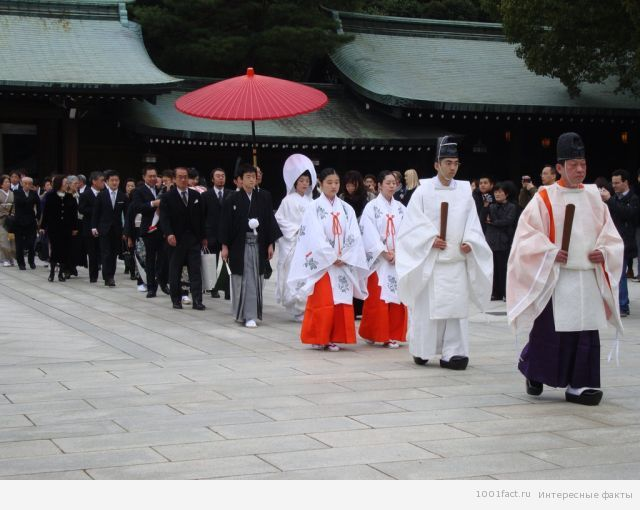 обряд бракосочетания в Японии