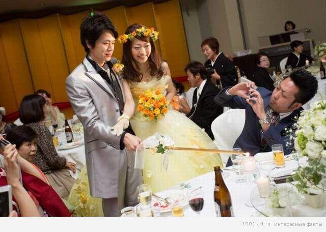 на свадьбе в Японии