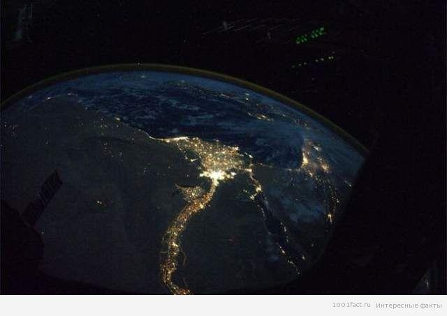 вид на Нил с космоса