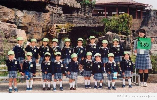 японские дети на экскурсии