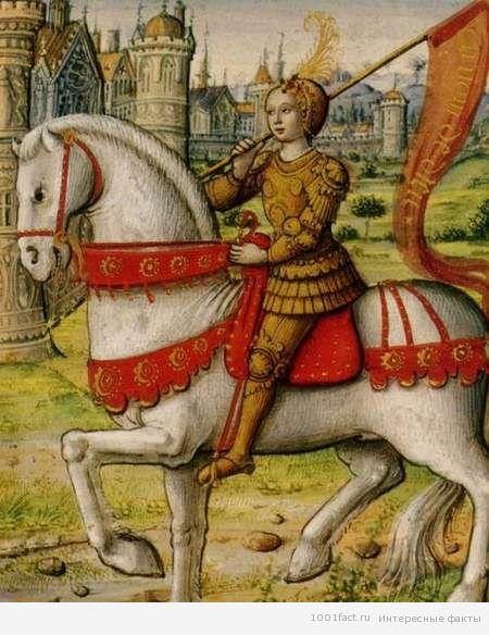 Жанна д'Арк в мужской одежде