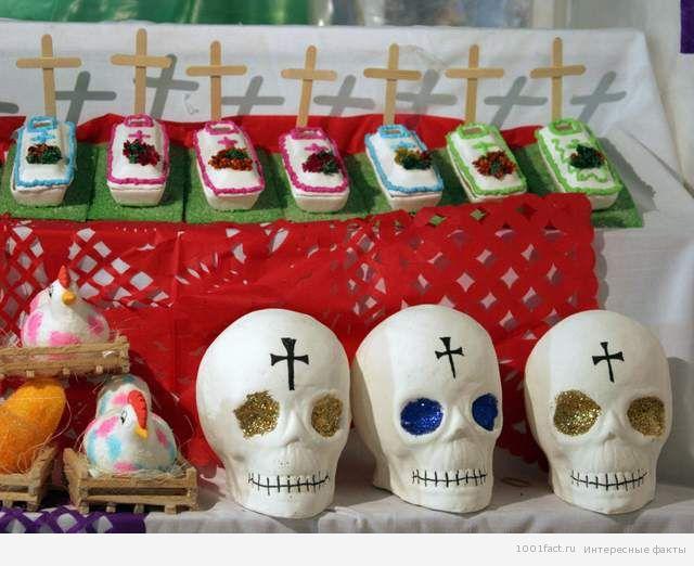 сладости на празднике День Смерти