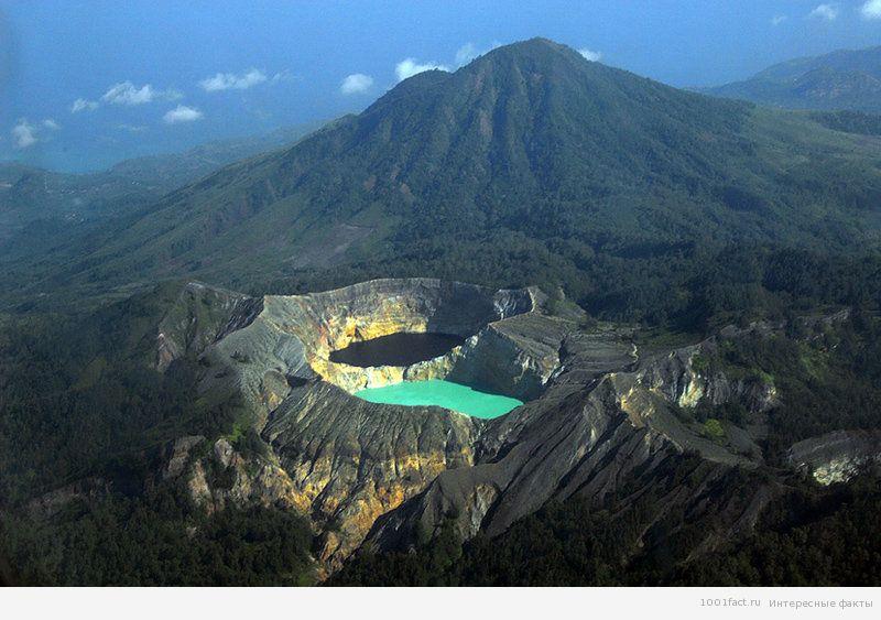 вулкан и озера