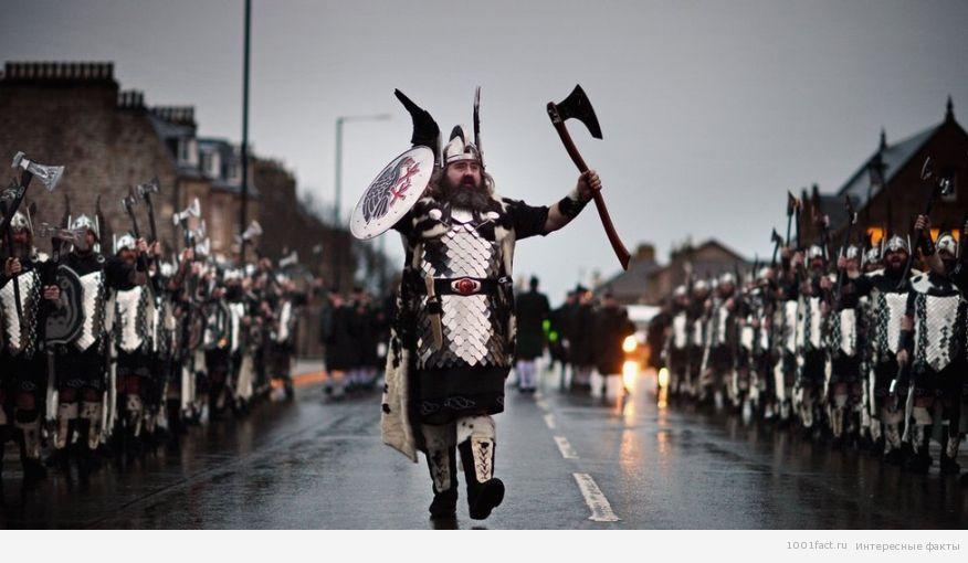 парад викингов