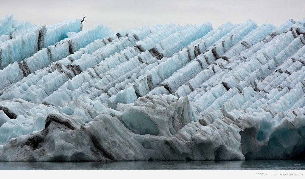 ледники на озере