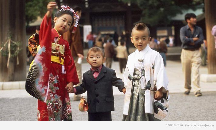 праздник взросления детей в Японии