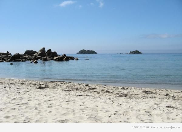 песок и прозрачная вода