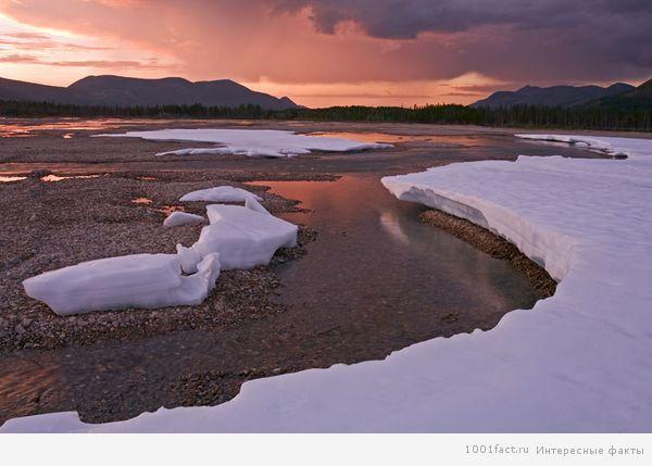 не замерзающее озеро