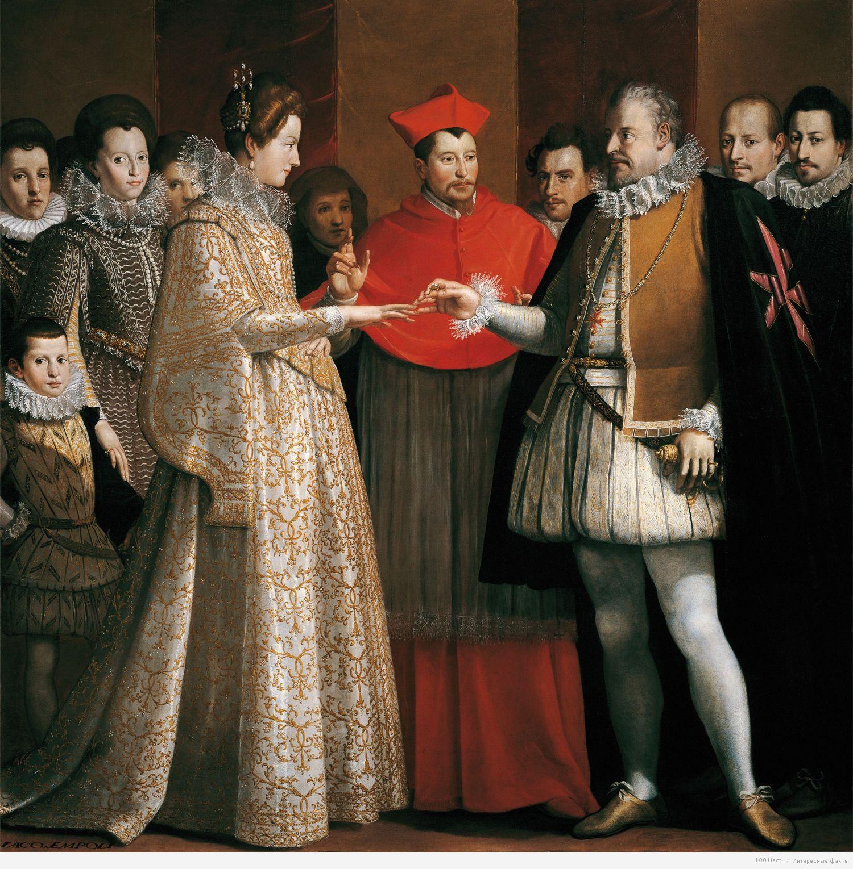 Мария Медичи и Генрих Бурбон