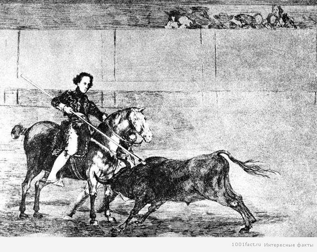 картина с изображением матадорки