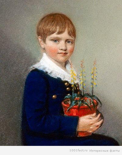 Дарвин в детстве