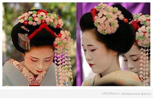 японка с украшениями