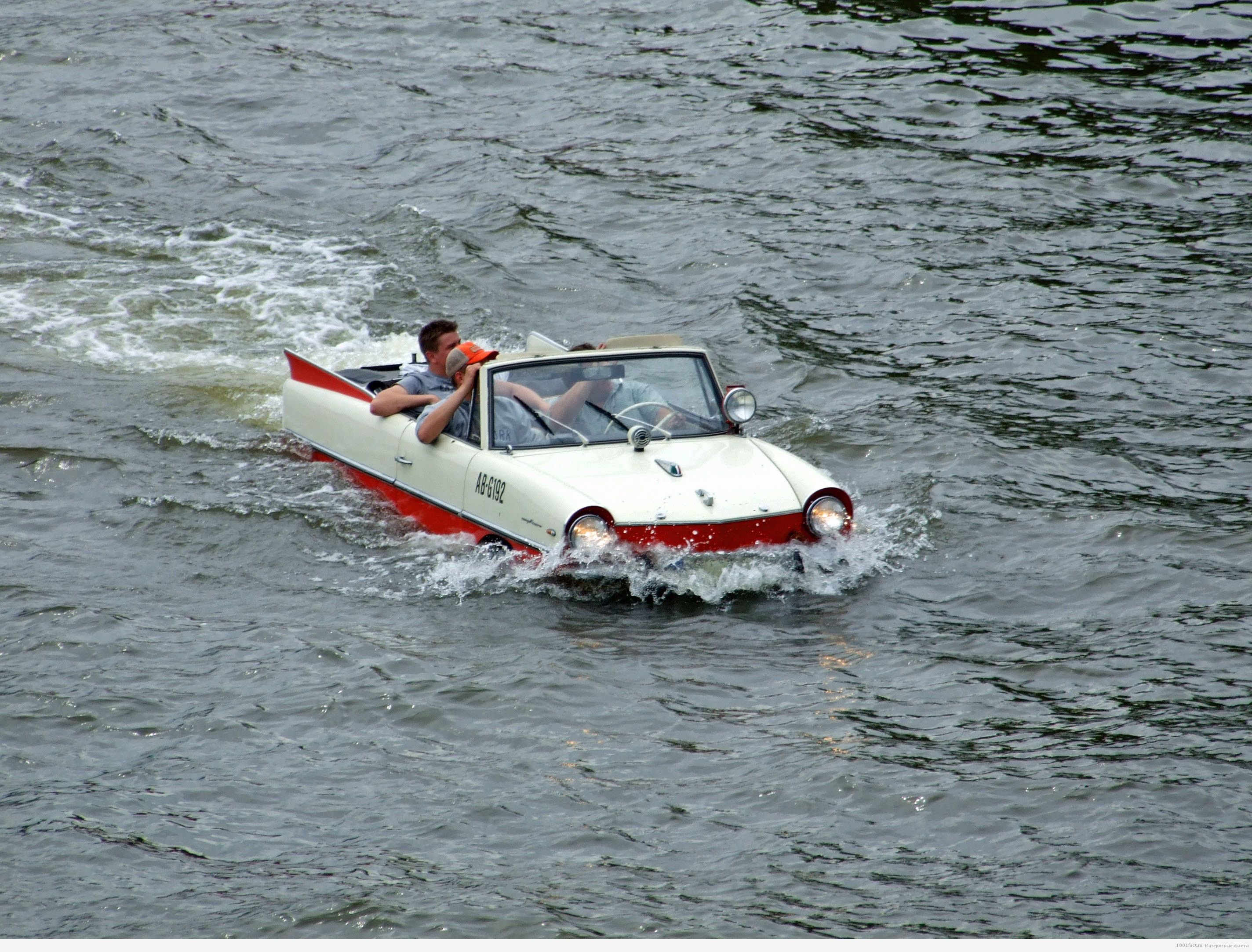 на воде Amphicar